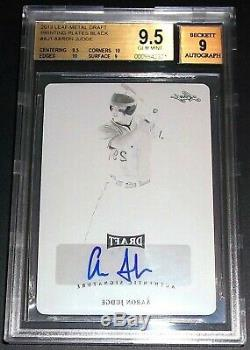 TRUE (#1/1) BGS 9.5 Rc Aaron Judge Auto 2013 Print Plate Rookie Signed Autograph