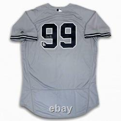 Yankees Aaron Judge Autographed Signed Authentic Jersey Gray Fanatics
