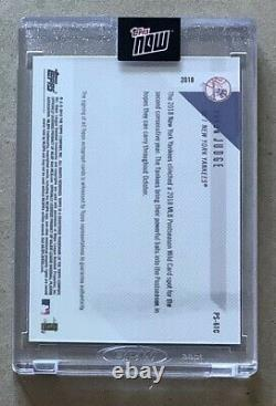 Yankees Aaron Judge Autographed Topps Now 2018 Wild Card #20 Of 25