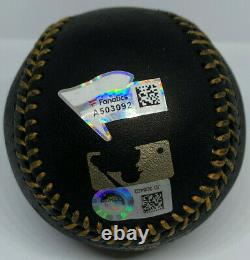 Yankees Aaron Judge Signed Black Leather Baseball MLB and Fanatics Holo